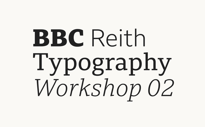BBC Reith Typography Workshop 02