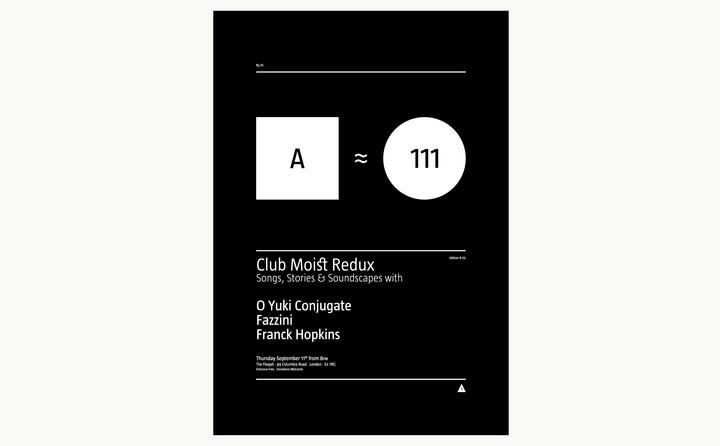 Club Moist designed by Fitzroy and Finn