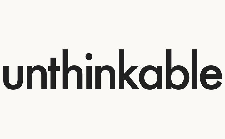 Unthinkable logo designed by Fitzroy and Finn