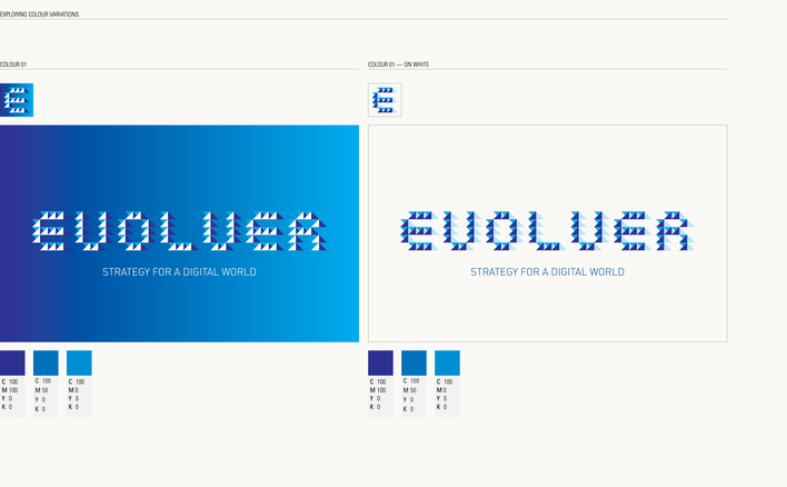 Evolver logo designed by Fitzroy and Finn