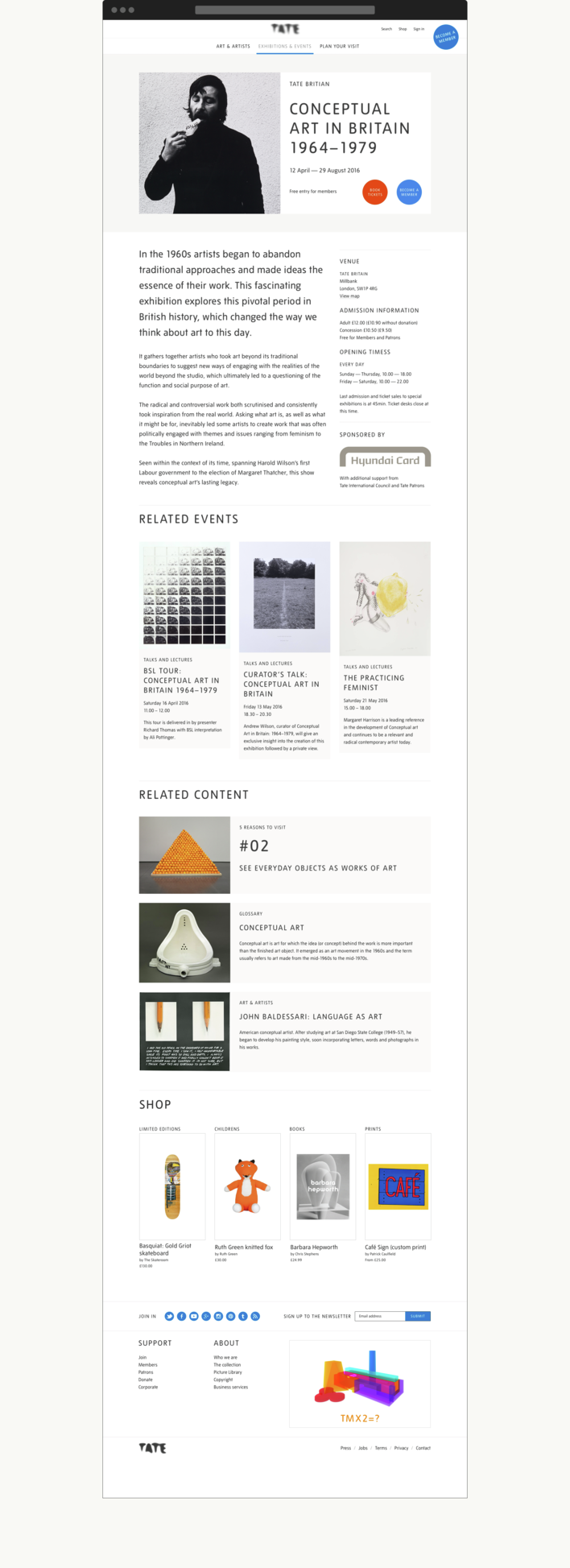 Tate exhibition page