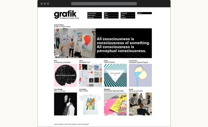 Grafik Magazine website