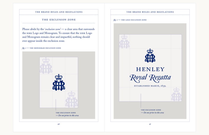 Henley Royal Regatta Style Guide designed by Fitzroy and Finn
