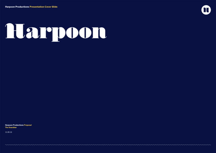 Harpoon presentation title page