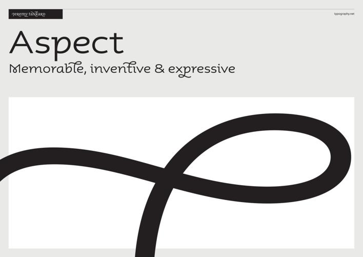 Jeremy Tankard Typography type specimen