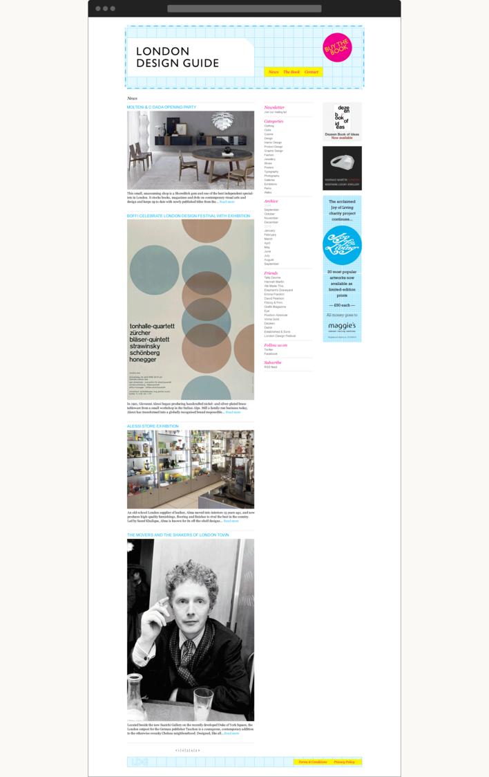London Design Guide website