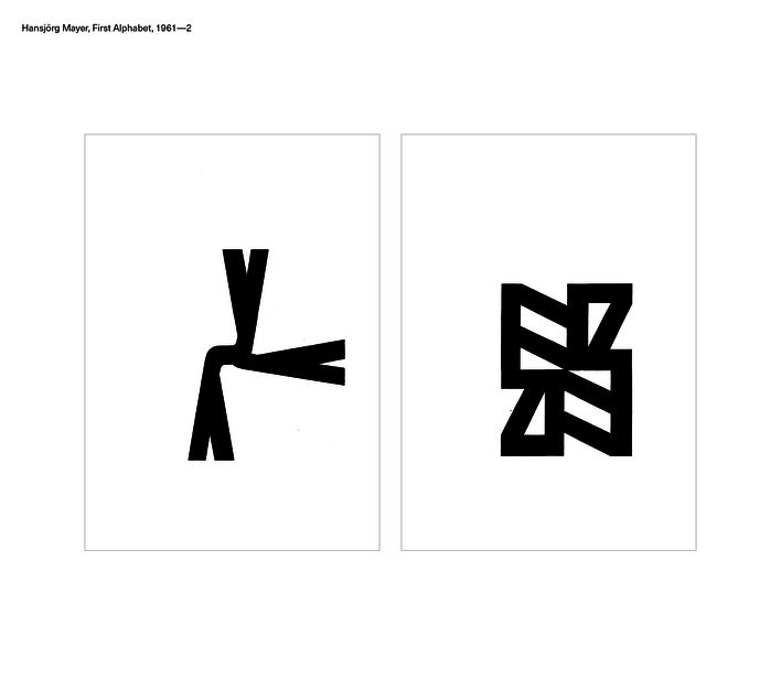 Hansjörg Mayer, First Alphabet, 1961—2