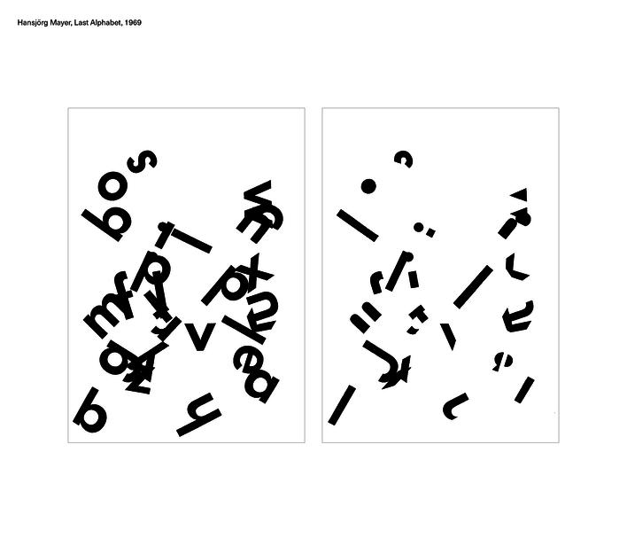Hansjörg Mayer, Last Alphabet, 1969