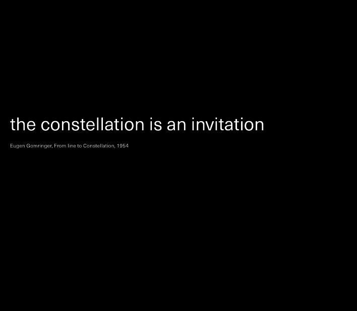 Eugen Gomringer, From line to Constellation, 1954
