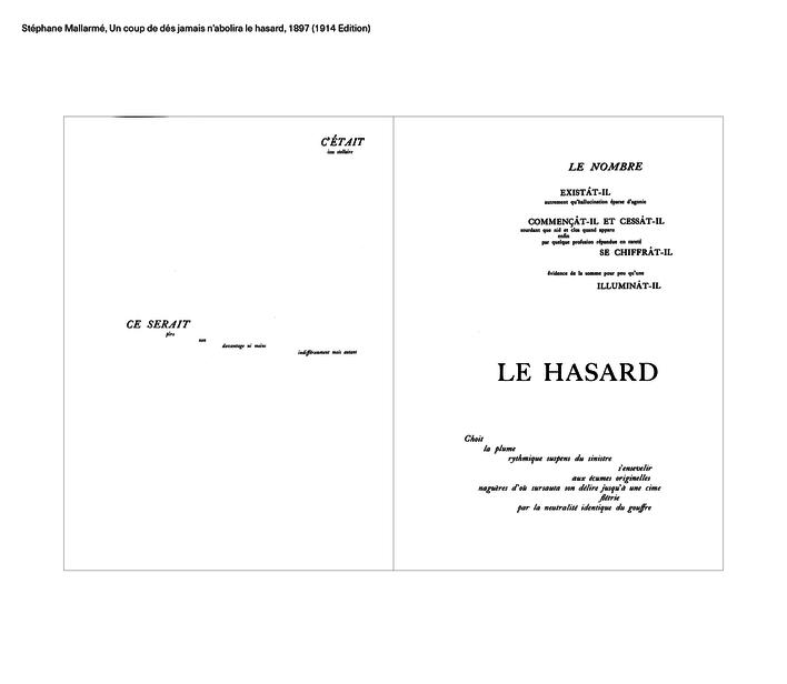 Stéphane Mallarmé, Un coup de dés jamais n'abolira le hasard, 1897 (1914 Edition)