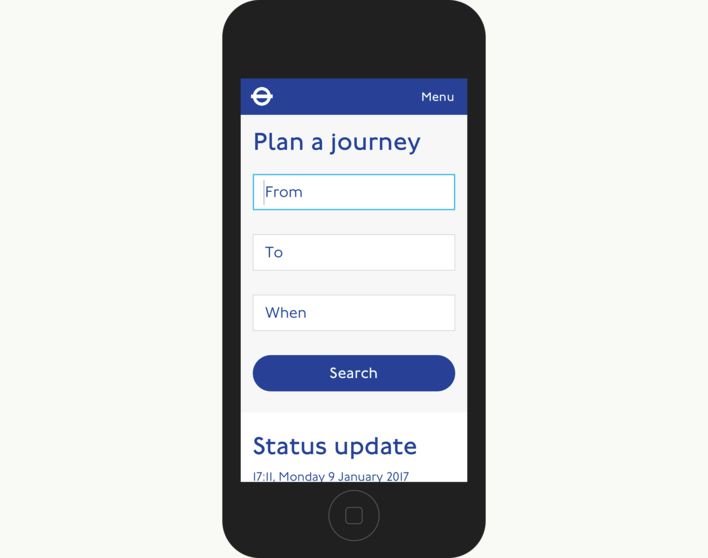 TfL Plan Your Journey On Mobile