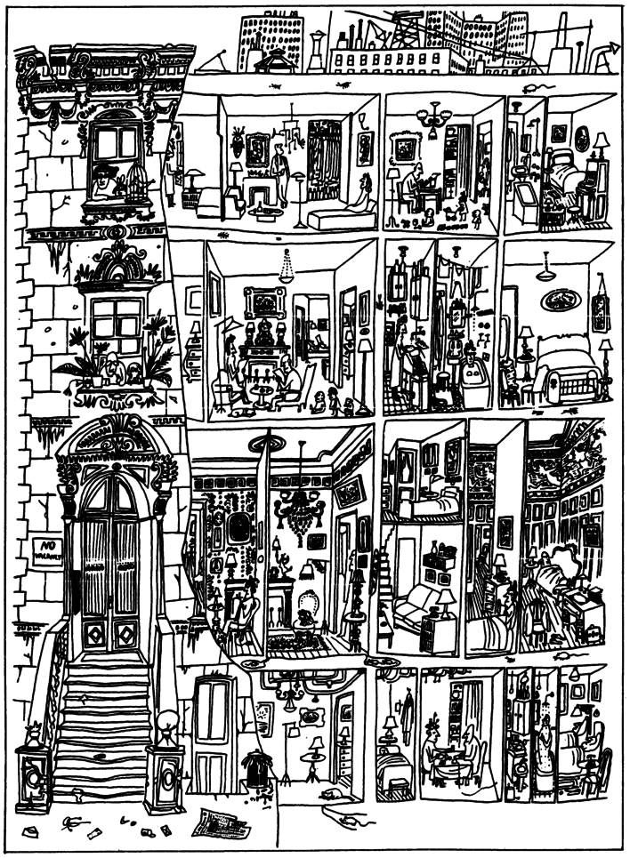 Saul Steinberg, The Art Of Living (1949)