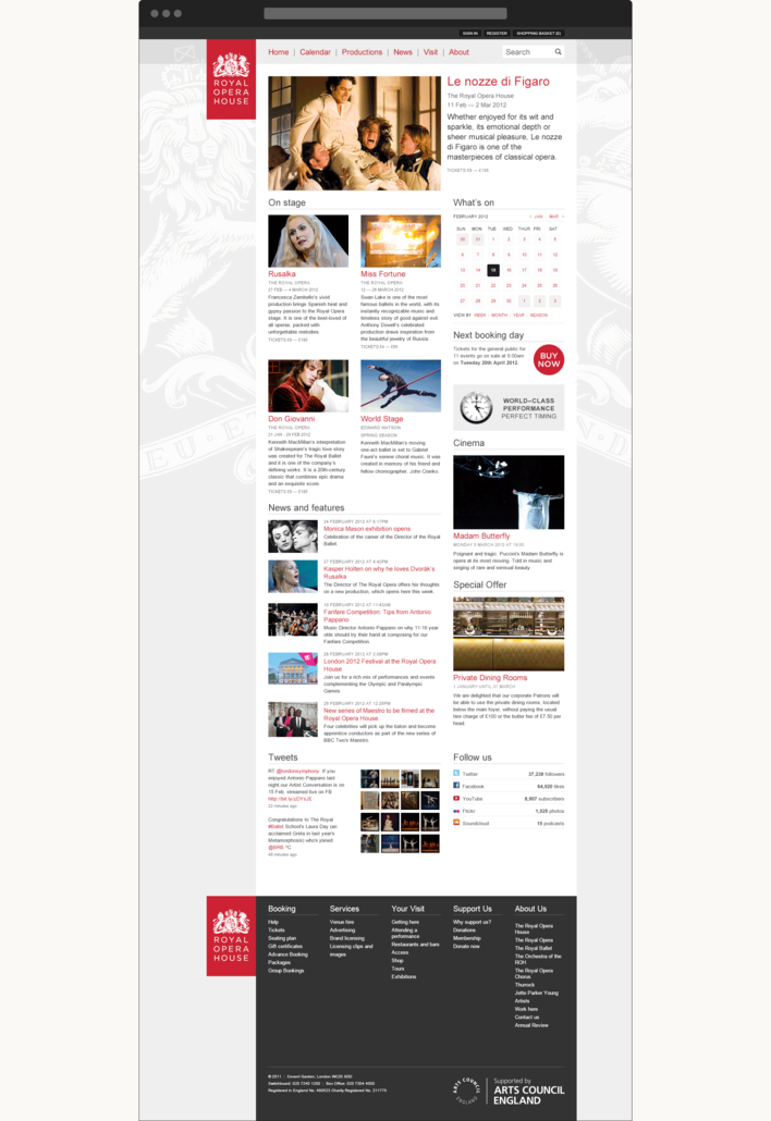 Royal Opera House website