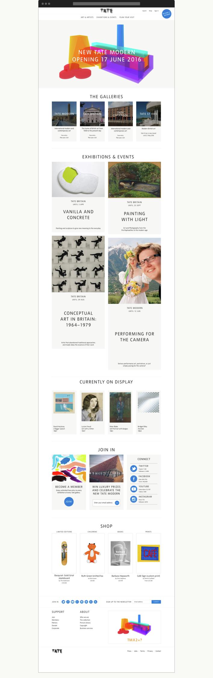 Tate homepage