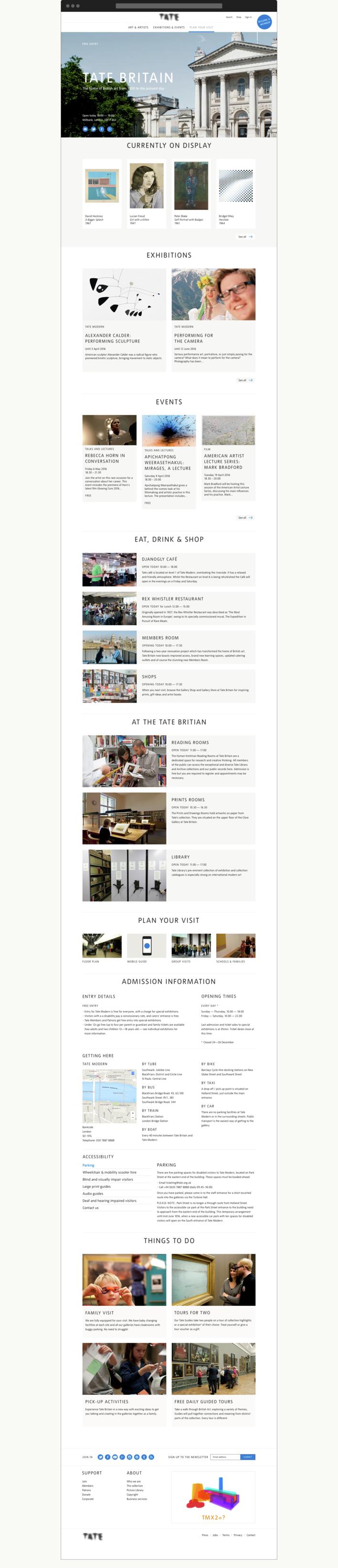 Tate venue page