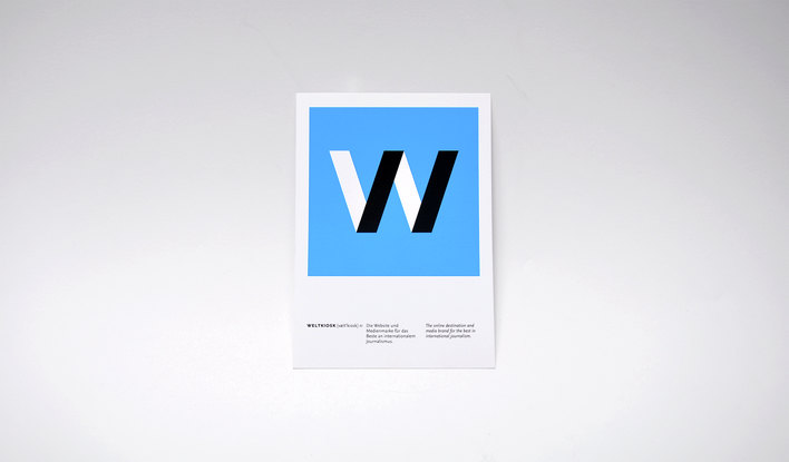 Weltkiosk logo designed by Fitzroy and Finn